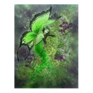 Carte postale de Fée Verte de La - fée d'absinthe
