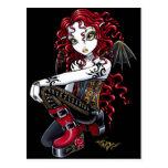 Carte postale de féerie tatouée par rouge de Terri