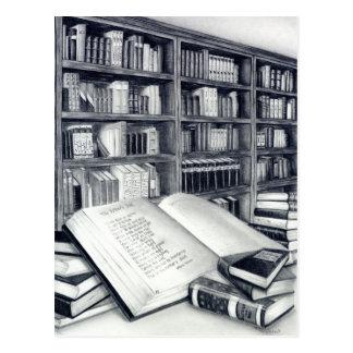 Carte postale de livres