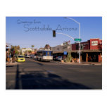 Carte postale de magasins de Mainstreet de Scottsd