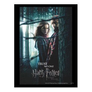 Carte Postale De mort sanctifie - Hermione et Ron