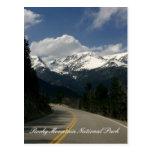 Carte postale de parc national de montagne rocheus