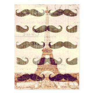 Carte Postale De Paris avec la moustache
