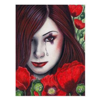 Carte postale de poisons d'oeillette jolie