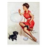 Carte postale de soufflement des bulles Pin-
