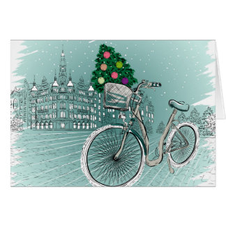 Carte postale de vacances avec l'arbre de vacances