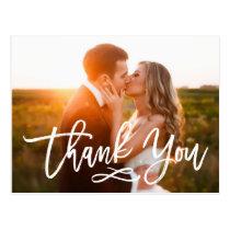 Carte postale en lettres de Merci de mariage de