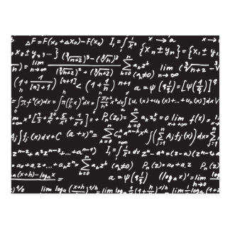 Carte Postale Équations de maths de tableau noir