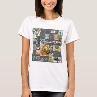 Carte postale et collage vintages français de t-shirt