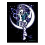 Carte postale féerique céleste d'imaginaire de lun