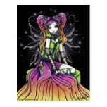 Carte postale féerique d'art d'arc-en-ciel céleste