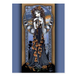Carte postale féerique d'art de lune gothique de f