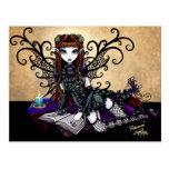 Carte postale féerique victorienne gothique d'art