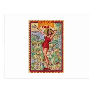 Carte Postale Femme La Havane : Vintage cubain La Havane