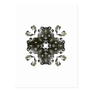 Carte Postale Fractale noire et blanche