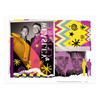 Carte Postale Fred et George Weasley
