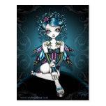 Carte postale gothique de fée de corset de couture