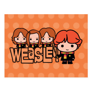 Carte Postale Graphique de Weasley Siblilings de bande dessinée