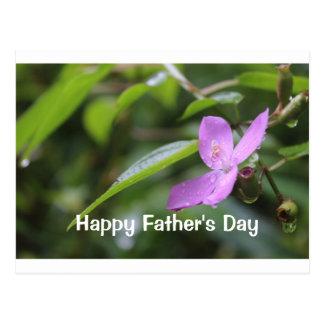 Carte postale heureuse de fête des pères