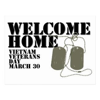 Carte Postale Jour des anciens combattants à la maison bienvenu