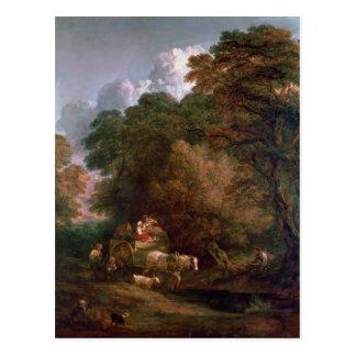 Carte Postale Le chariot du marché, 1786