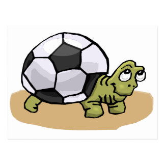 Carte Postale Le football (tortue)