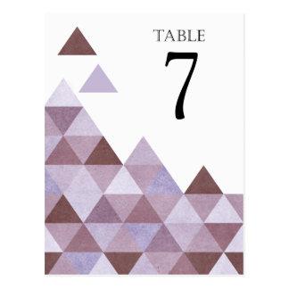 Carte Postale Le Tableau géométrique de triangles numéro le