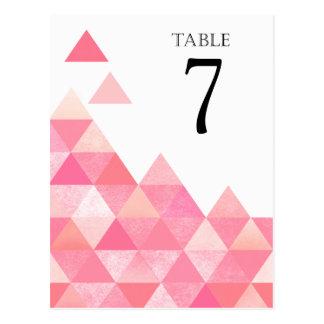 Carte Postale Le Tableau géométrique de triangles numéro | mauve