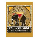 Carte postale l'elephant de l'Eau de Cologne De