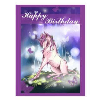 Carte Postale Licorne de forêt