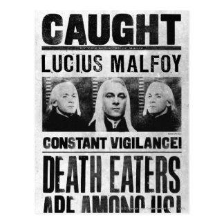 Carte Postale Lucius Malfoy a voulu l'affiche