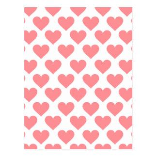 Carte Postale Motif rouge de coeur