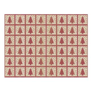 Carte Postale Motif tricoté par rouge de Christmassy