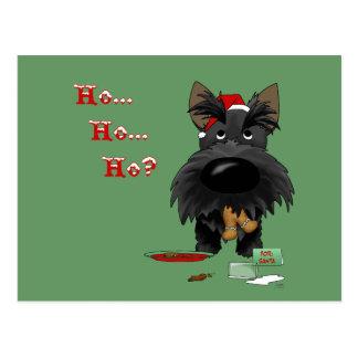 Carte Postale Noël de Terrier d'écossais