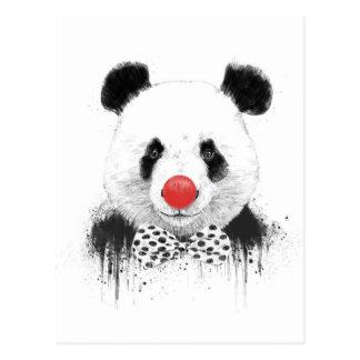 Carte Postale Panda de clown