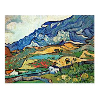 Carte Postale Paysage de Van Gogh - de montagne de Les Alpilles