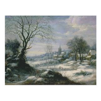 Carte Postale Paysage d'hiver