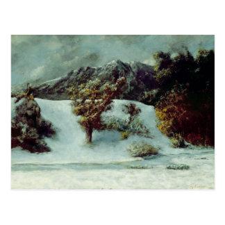Carte Postale Paysage d'hiver avec les bosselures du Midi, 1876