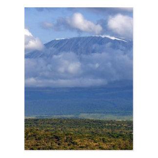 Carte Postale Paysages de point de repère du mont Kilimandjaro