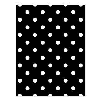 Carte Postale Petit pois - blanc sur le noir