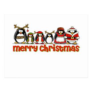 Carte Postale Pingouins de Joyeux Noël