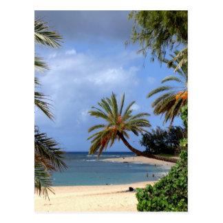 Carte Postale Plage du nord tropicale de rivage, Oahu, Hawaï