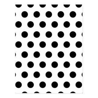 Carte Postale Pois blanc et noir