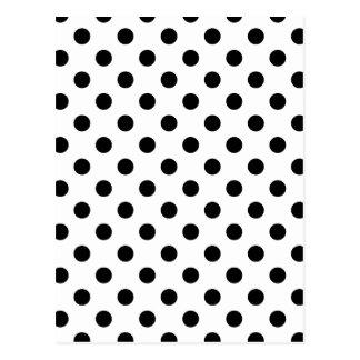 Carte Postale Pois grand - noir sur le blanc