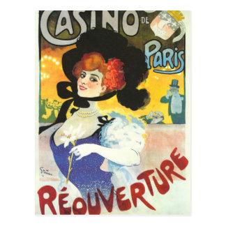 Carte Postale Publicité française victorienne Paris de cabaret