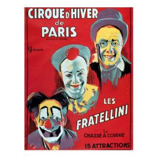 Carte Postale Publicité par affichage le 'd'Hiver De Paris de