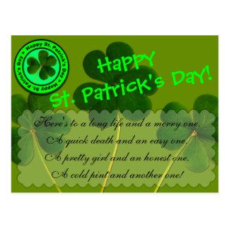 Carte Postale Salutation du jour de St Patrick heureux