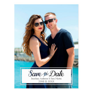 Carte Postale Sauvez la photo de verticale coupée par date des