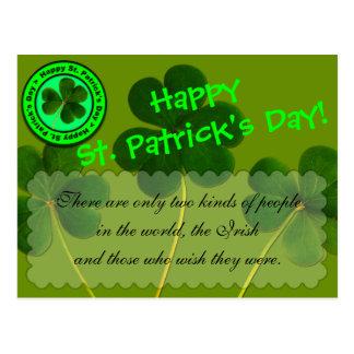Carte Postale Souhaits de salutation du jour de St Patrick