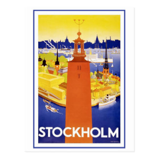 Carte Postale Stockholm vintage Suède